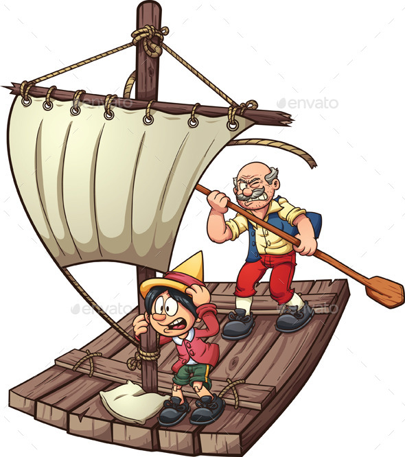 GraphicRiver Pinocchio on a Raft 10141819