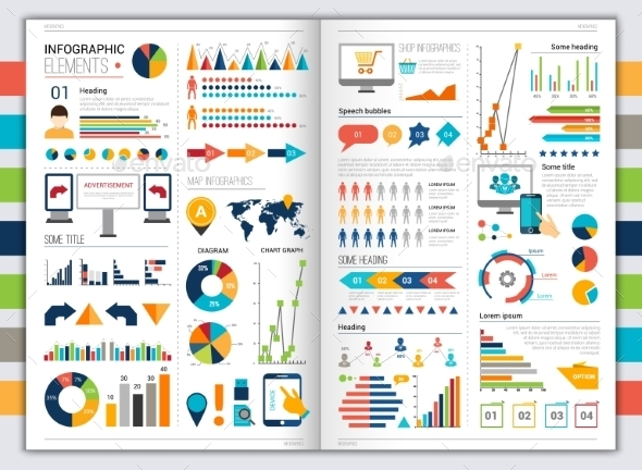GraphicRiver Flat infographic set 10141901