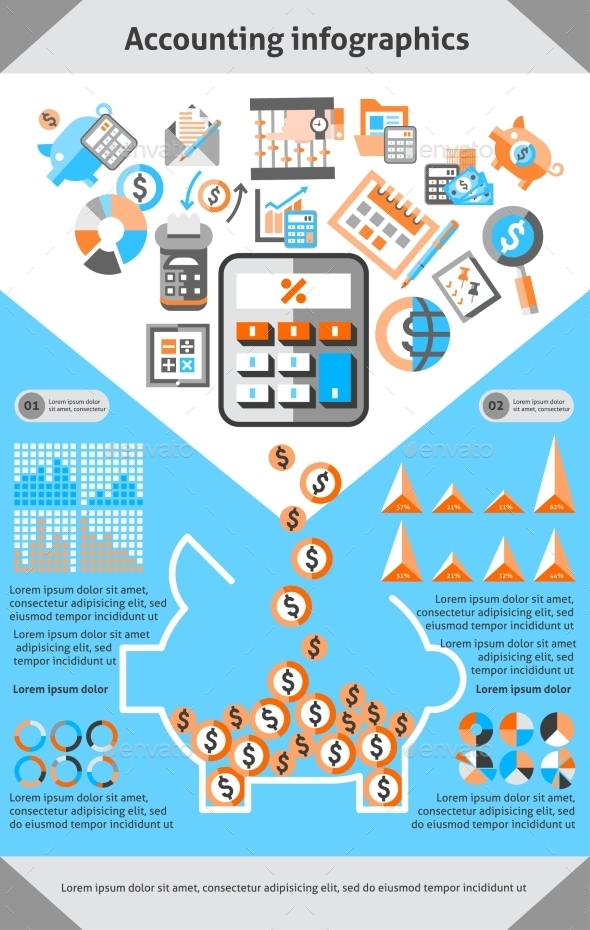 GraphicRiver Accounting Infographics Set 10142094