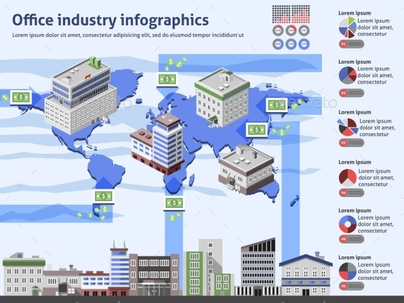 GraphicRiver Office Industry Infographics 10142104