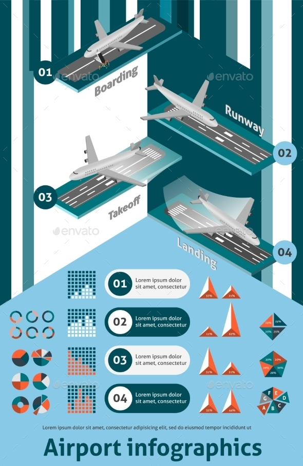 GraphicRiver Airport Infographic Set 10142180