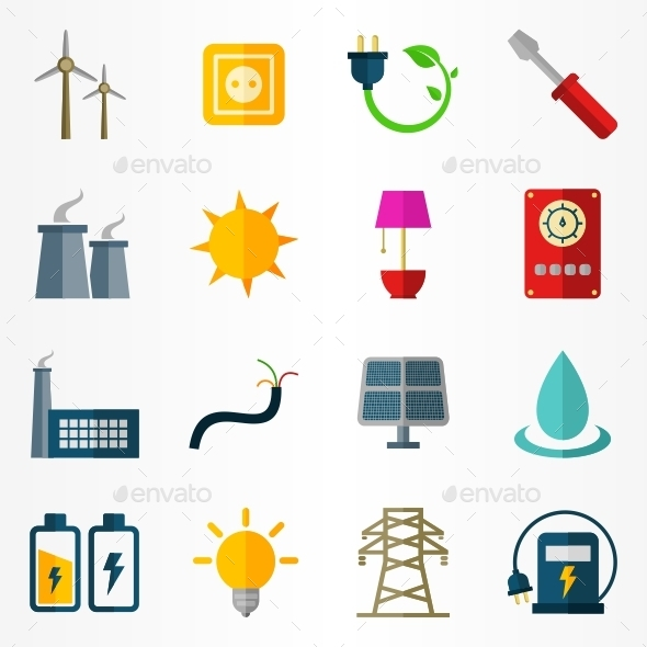 GraphicRiver Electricity Icons 10142186