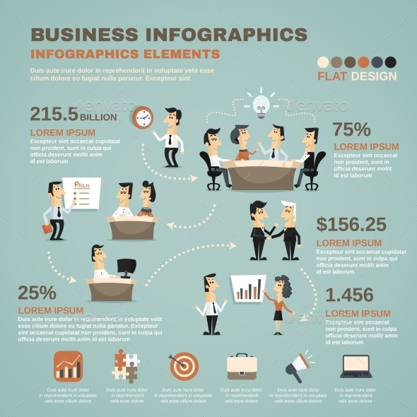 GraphicRiver Office Work Infographics Presentation Poster 10142191