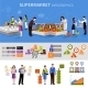 Supermarket People Infographics - GraphicRiver Item for Sale