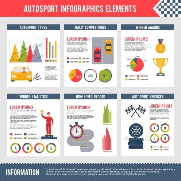 GraphicRiver Auto Sport Infographics 10142229