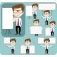 Collection of Office Workers with Posters - GraphicRiver Item for Sale