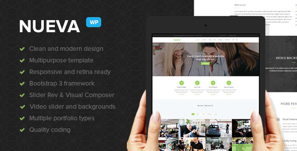 ThemeForest Nueva Responsive Multi-Purpose WordPress Theme 10060990