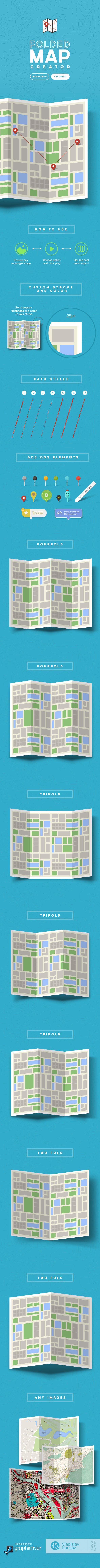 GraphicRiver Folded Map Creator 10143199