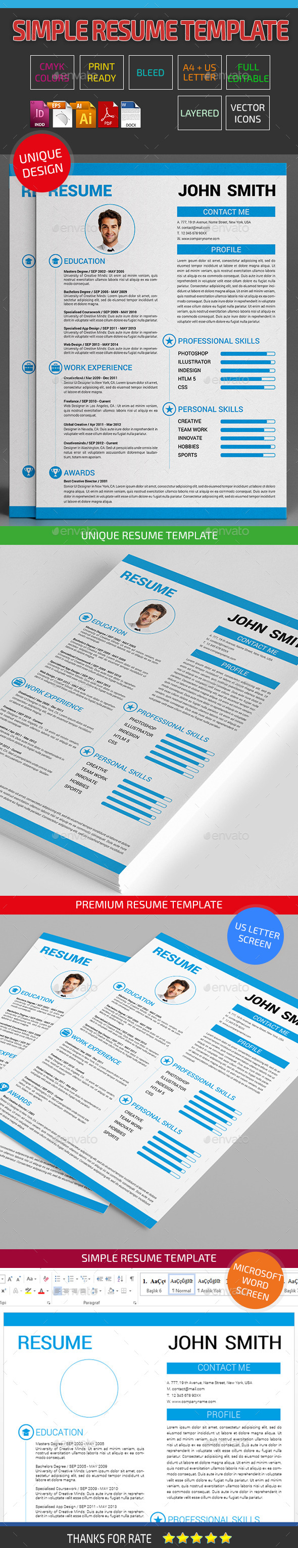Clean Resume Template 08