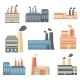 Set of Flat Factory Icons - GraphicRiver Item for Sale