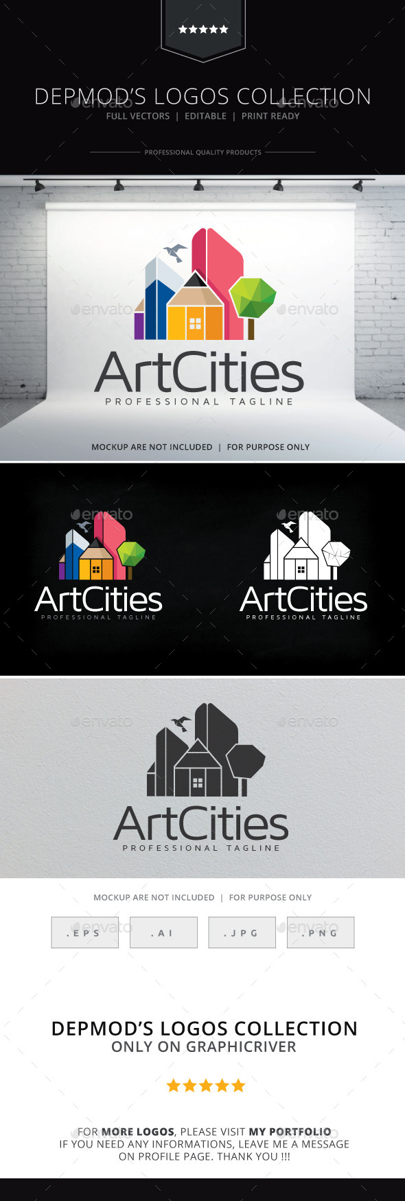 GraphicRiver Art Cities Logo 10143596