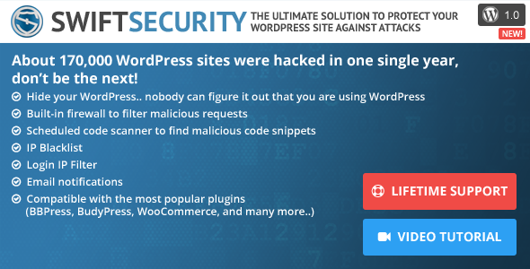 CodeCanyon Swift Security The Ultimate WordPress Protection 10143693