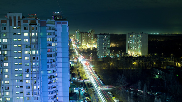 VideoHive Timelapse Of Night Life In The City 10143763
