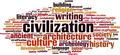 Civilization Word Cloud Concept - PhotoDune Item for Sale