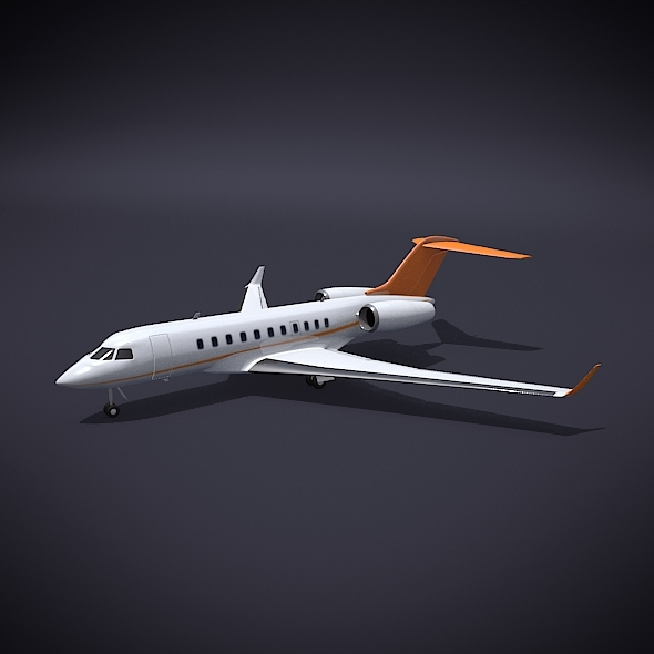3DOcean Bombardier 5000 global private jet 10144084