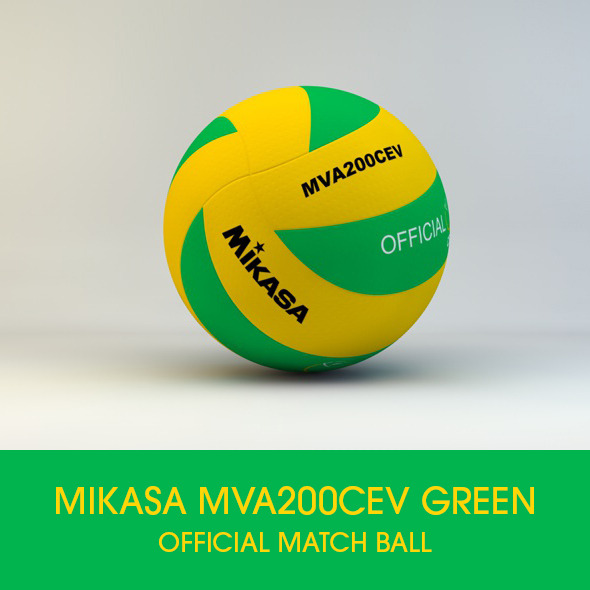 3DOcean Mikasa MVA200 CEV Official Match ball 3D model 10144100