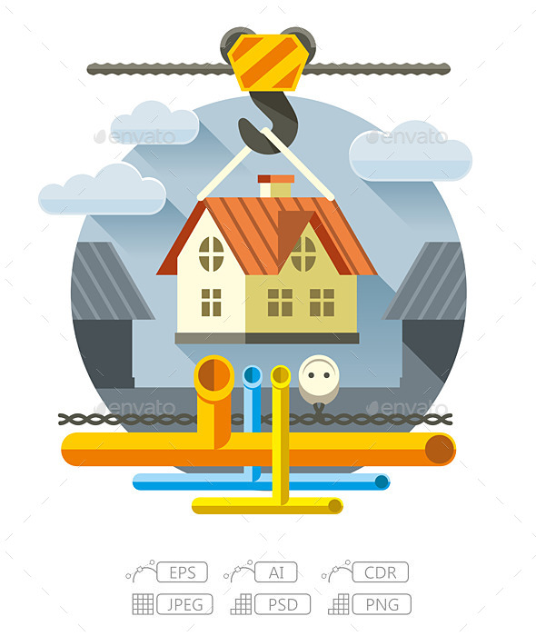 GraphicRiver Fast Flat House 10144138