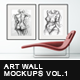 Wall Art Mockups Vol.1 - GraphicRiver Item for Sale