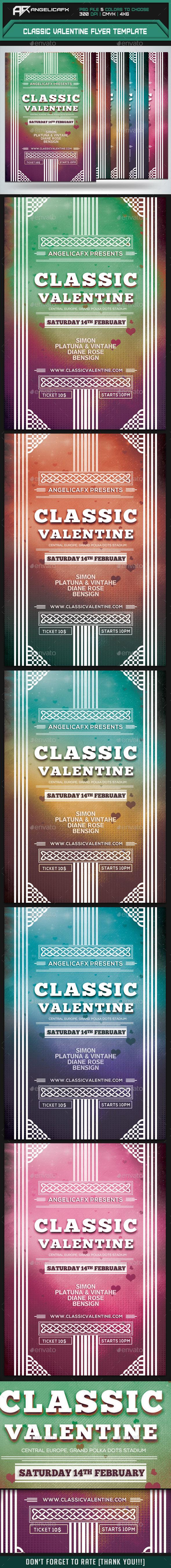 GraphicRiver Classic Valentine Flyer Template 10144730