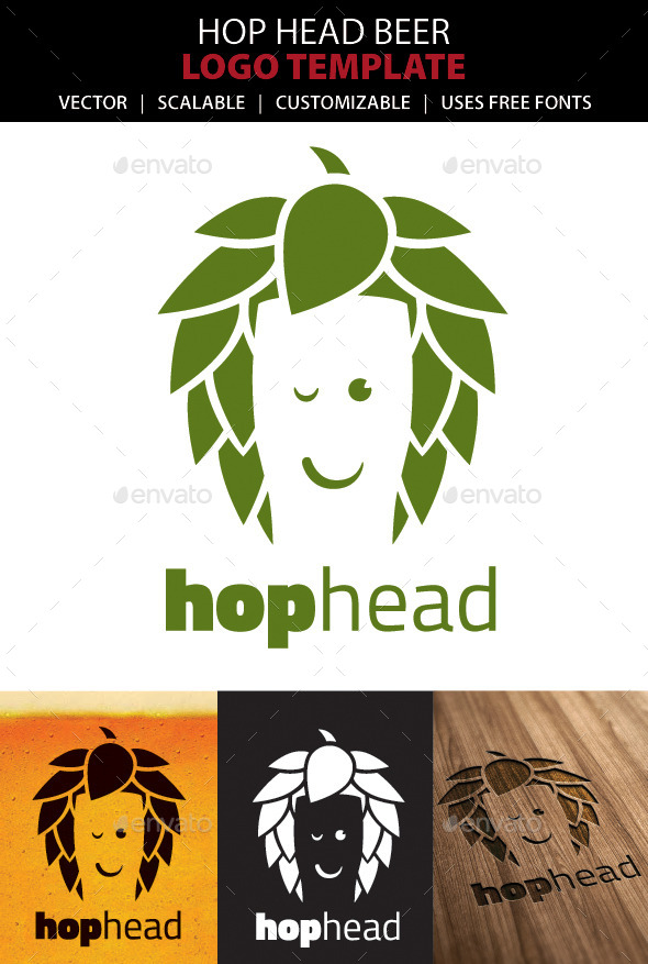 GraphicRiver Hop Head Beer Logo 10144751