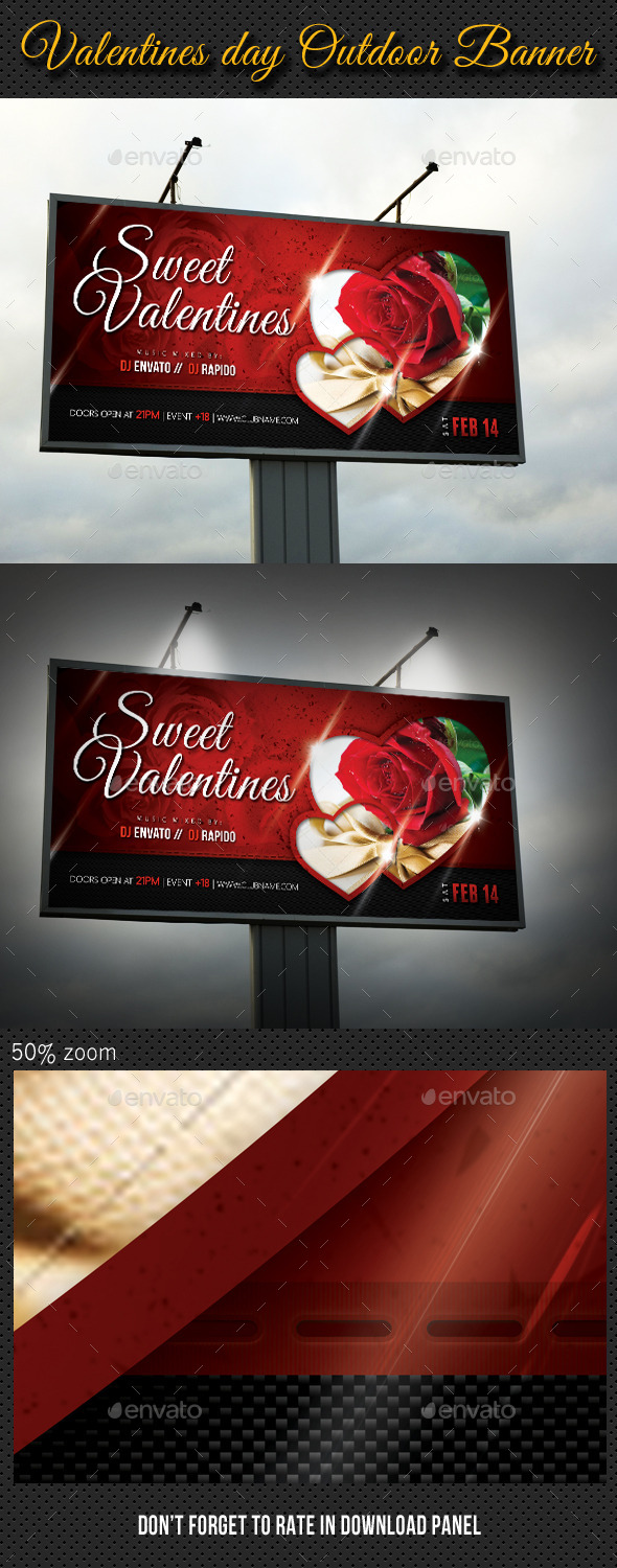 GraphicRiver Valentines Day Outdoor Banner 10144867