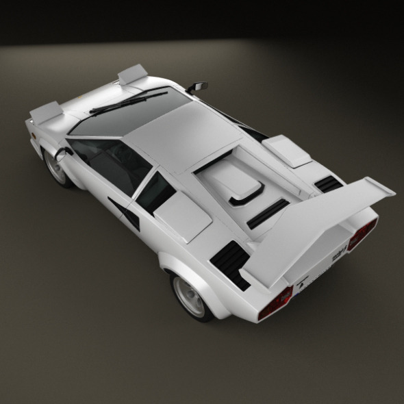 lamborghini countach 5000 qv 1985 by humster3d 3docean. Black Bedroom Furniture Sets. Home Design Ideas