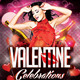 Valentine Celebrations Flyer Template - GraphicRiver Item for Sale
