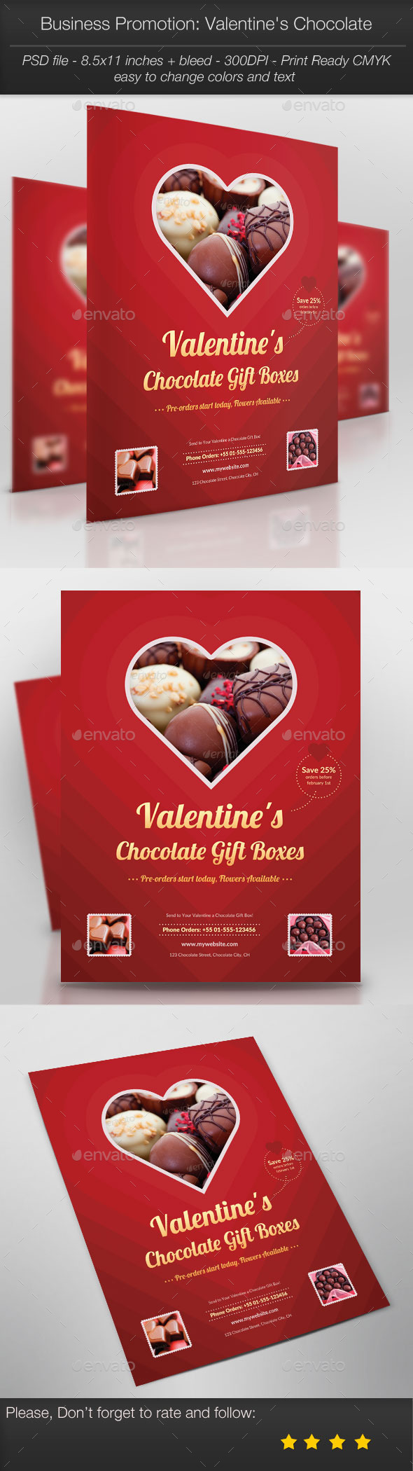 GraphicRiver Business Promotion Valentine s Chocolate 10145373