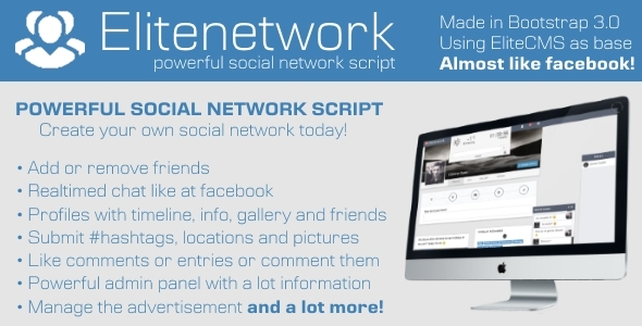 CodeCanyon Elitenetwork Advanced Social Network Script 10145377