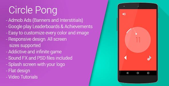 CodeCanyon Circle Pong Admob & Leaderboards & Share 10145379