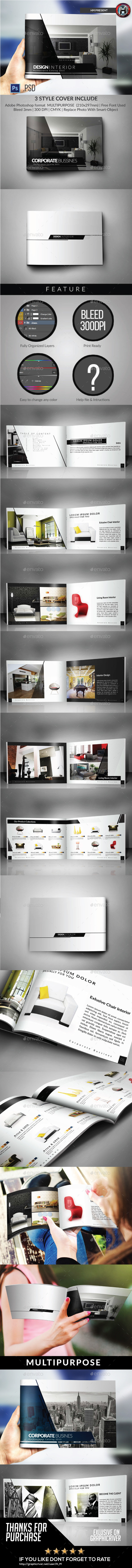 GraphicRiver Multipurpose Catalogs Brochure Portfolio Template 10145461
