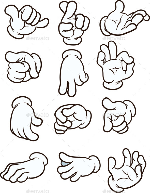 GraphicRiver Cartoon Hands 10145465