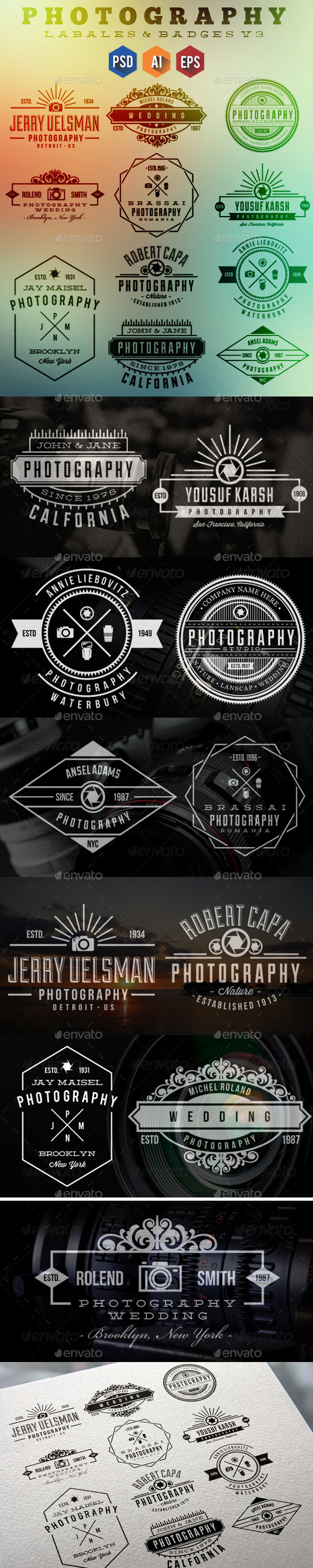 11 Photography Badges & Labels v3