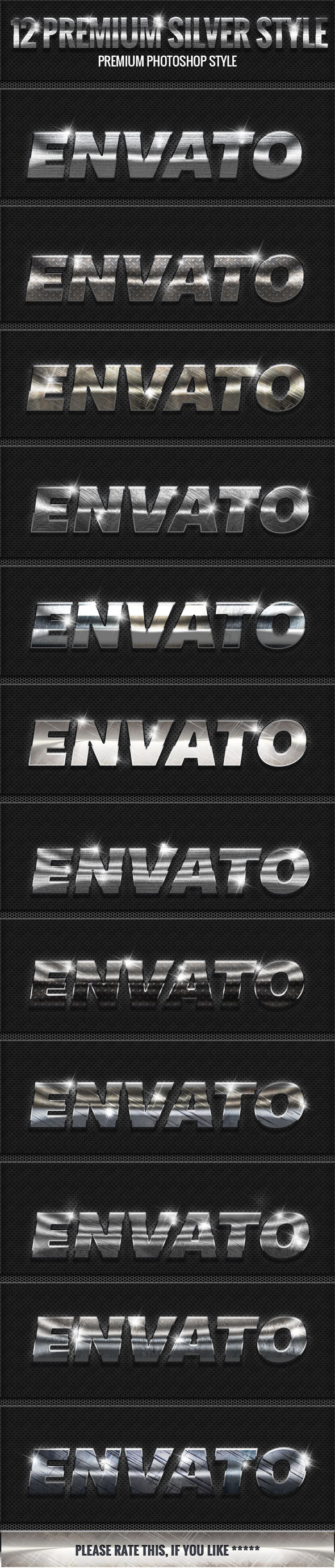 GraphicRiver 12 Silver Style Photoshop 10145589