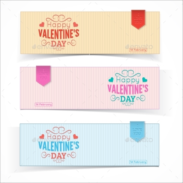 GraphicRiver Saint Valentine s Day Banners 10145693