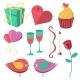 Saint Valentine's Day Objects Set. - GraphicRiver Item for Sale