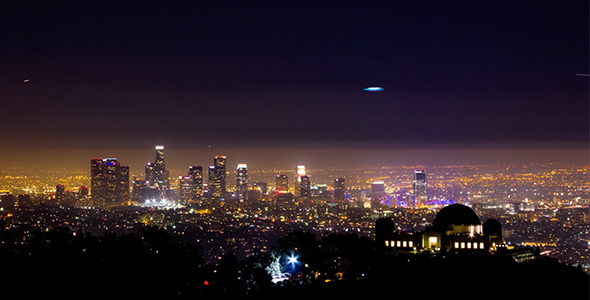 VideoHive Downtown Los Angeles at Night 10145746