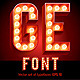 Lamp Board Alphabet - GraphicRiver Item for Sale