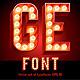 Lamp Board Alphabet - GraphicRiver Item for Sale