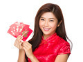 Chinese woman hold with luck money - PhotoDune Item for Sale