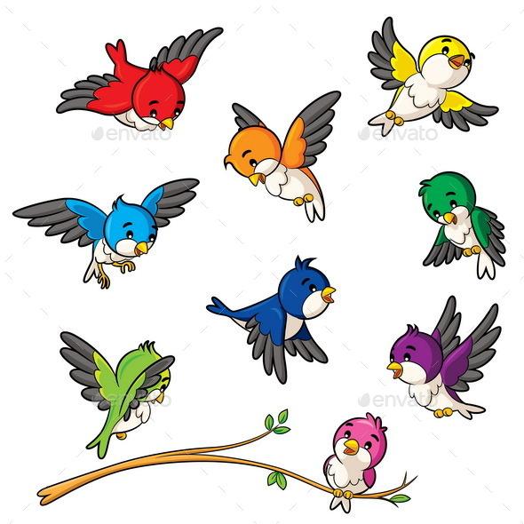 GraphicRiver Birds 10146050