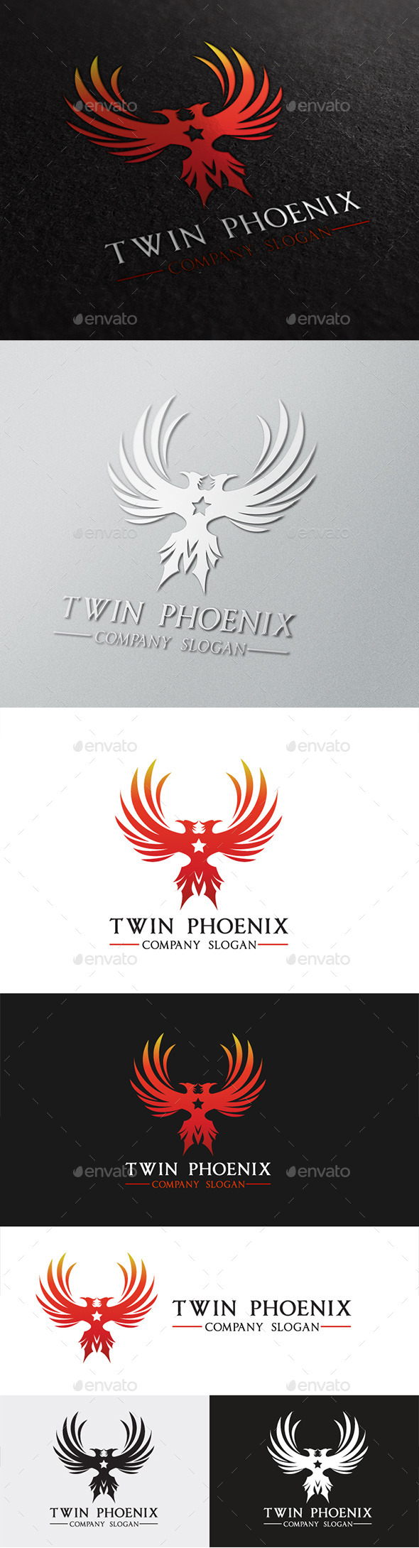 GraphicRiver Twin Phoenix 10146056