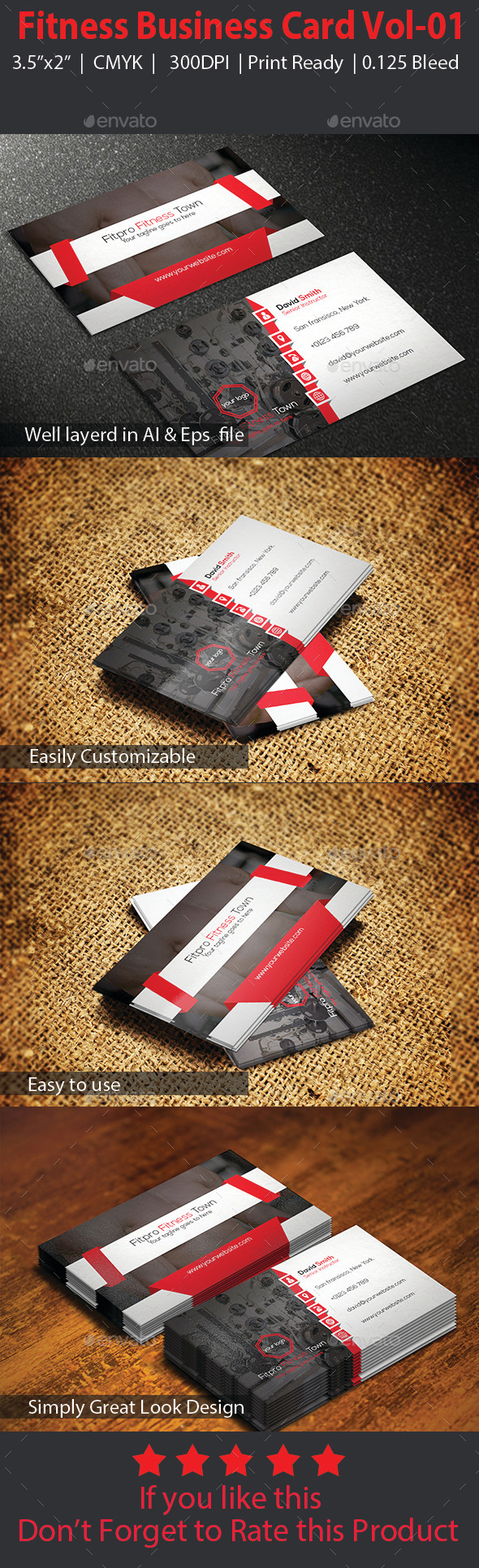 GraphicRiver Fitness Business Card Vol-01 10146196