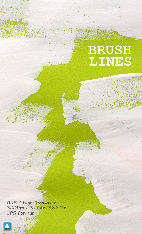 GraphicRiver Paint Brush Strokes On Paper 0063 10146573