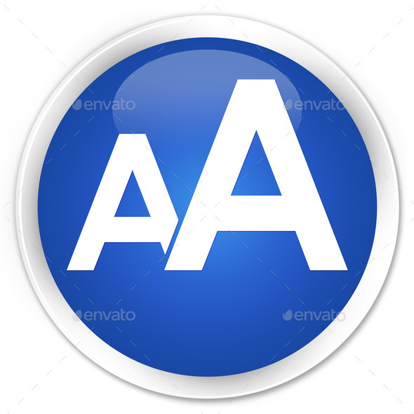 font size icon blue glossy round button  misc  photo
