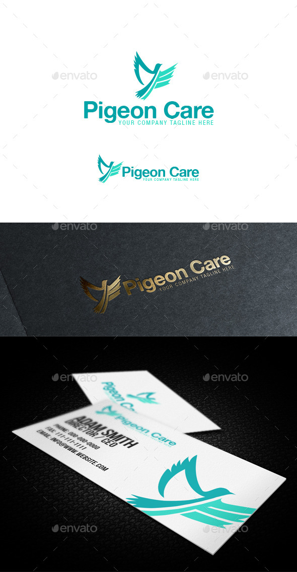 GraphicRiver Pigeon Care Logo 10147277
