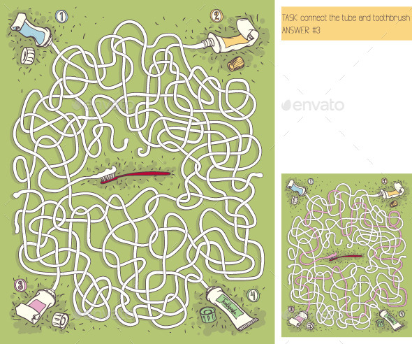 GraphicRiver Toothpaste Maze Game 10147287