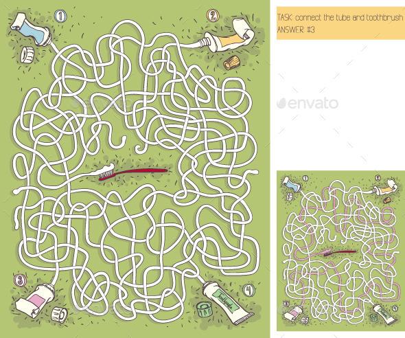 GraphicRiver Toothpaste Maze Game 10147287