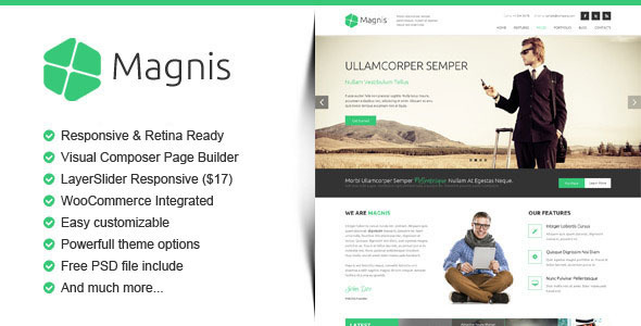ThemeForest Magnis Corporate Multipurpose WordPress Theme 10035614