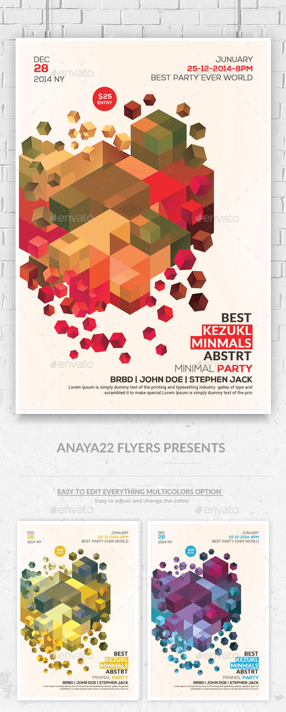 GraphicRiver Minimal Abstract Flyer Templates 10147919